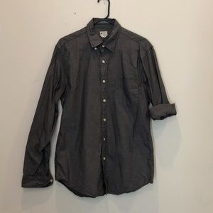 J. Crew Men's Medium Sunwashed Oxford Grey Shirt